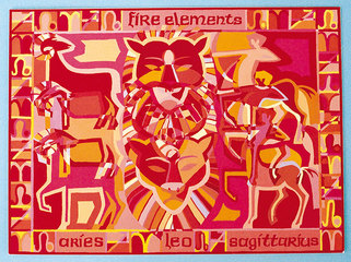 Kim Whittingham, collage of Fire Elements